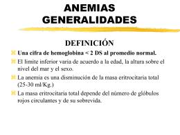 ANEMIAS ANEMIAS HIPOCRÓMICAS