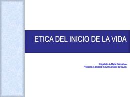 ETICA Y CLONACIÓN - Escuelas San José · Jesuitas