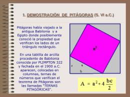1. DEMOSTRACIÓN DE PITÁGORAS (S. VI a.C.)