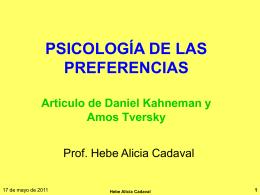 Psicología de las preferencias