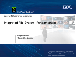 V5R4 - Integrated File System: Fundamentals
