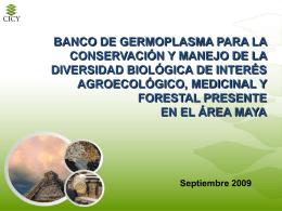 Presentación Banco de Germoplasma