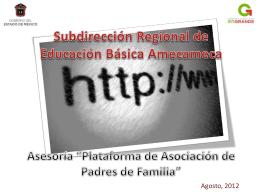 """Asesoría """"Plataforma de Asociación de Padres de"""