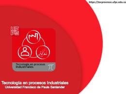 Tecnología en procesos Industriales Universidad