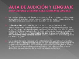 AULA DE AUDICIÓN Y LENGUAJE ORIENTACIONES