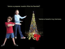 Preparando el Árbol de Navidad