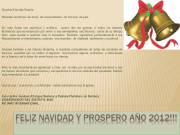 FELIZ NAVIDAD Y PROSPERO AÑO 2012!!!