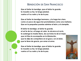 Bendición de San Francisco