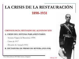 EL SEXENIO DEMOCRÁTICO - Blog de Historia de