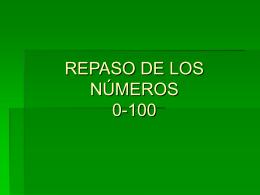 LOS NÚMEROS (30-100)