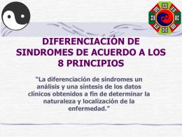 DIFERENCIACIÓN DE SINDROMES DE ACUERDO A LOS 8
