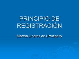 PRINCIPIO DE REGISTRACIÓN