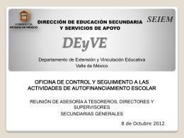 DIRECCIÓN DE EDUCACIÓN SECUNDARIA Y SERVICIOS DE