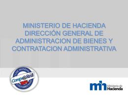 MINISTERIO DE HACIENDA DIRECCIÓN GENERAL DE