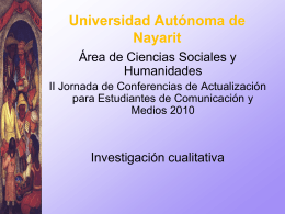 UNIVERSIDAD AUTÓNOMA DE NAYARIT Secretaría de