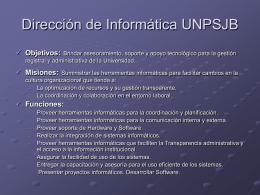Dirección de Informática UNPSJB
