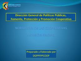 Dirección General De Políticas Públicas, Fomento,