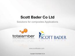 Scott Bader Ltd - Lawson User Association