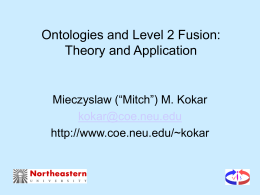 Ontologies and Level 2 Fusion: Theory and