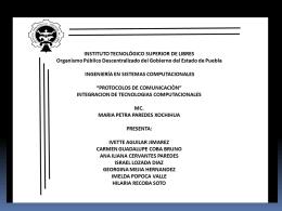 División de los protocolos por categorías de