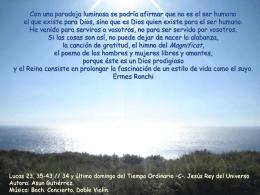 34 domingo -C- Jesús Rey del universo
