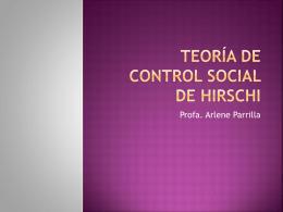 Teoría de control social de hirschi