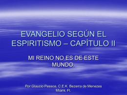 EVANGELIO SEGÚN EL ESPIRITISMO – CAPÍTULO II