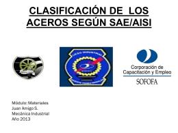 CLASIFICACIÓN DEL ACERO SEGÚN SAE