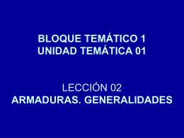 CLASIFICACIÓN DE LAS ARMADURAS SEGÚN SU FUNCIÓN
