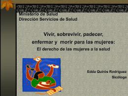 Ministerio de Salud Dirección Servicios de Salud