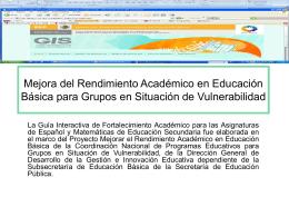 Mejora del Rendimiento Académico en Educación