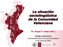 La situación sociolingüística de la Comunidad