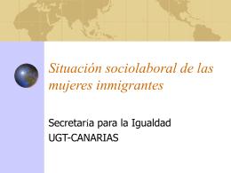 Situación sociolaboral de las mujeres inmigrantes