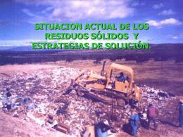 Situación Actual de Residuos Sólidos en México