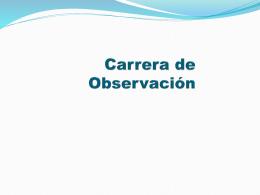 Carrera de Observación