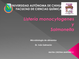 Listería monocytogenes