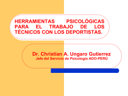 LA PSICOLOGÍA DEPORTIVA EN EL DEPORTE DE BASE