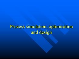 Process Simulation - Wydział Chemiczny