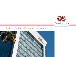 Productos Flexibles – Modalidades de Inversión