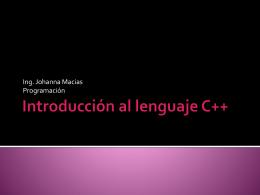 Introducción al lenguaje C++