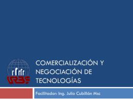 Comercialización y Negociación de Tecnologías