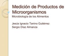 Medición de Productos de Microorganismos