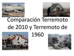 Comparación Terremoto de 2010 y Terremoto de 1960