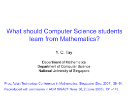 What Should Computer Science Students Learn From