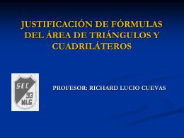 JUSTIFICACIÓN DE FORMULAS