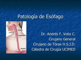 Patología de Esófago