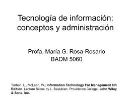 Tecnología de información: conceptos y
