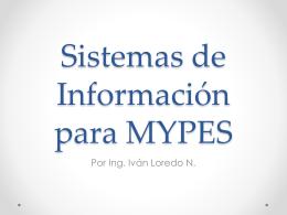 Sistemas de Información para MYPES