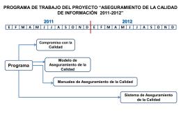 PROGRAMA DE TRABAJO ASEGURAMIENTO DE LA CALIDAD DE
