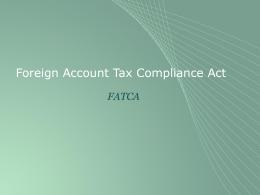 FATCA Reglas de información y retención